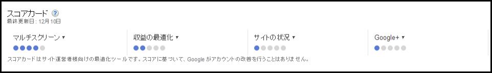 Google Adsense に新しいスコアカード(評価項目)が追加 マルチスクリーンの最適が分かるように (2)