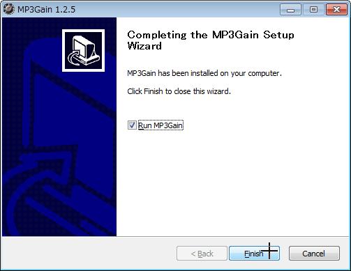 MP3の音楽ファイルの音量を一括で統一するソフトMP3Gainをwindowns7で使う (6)