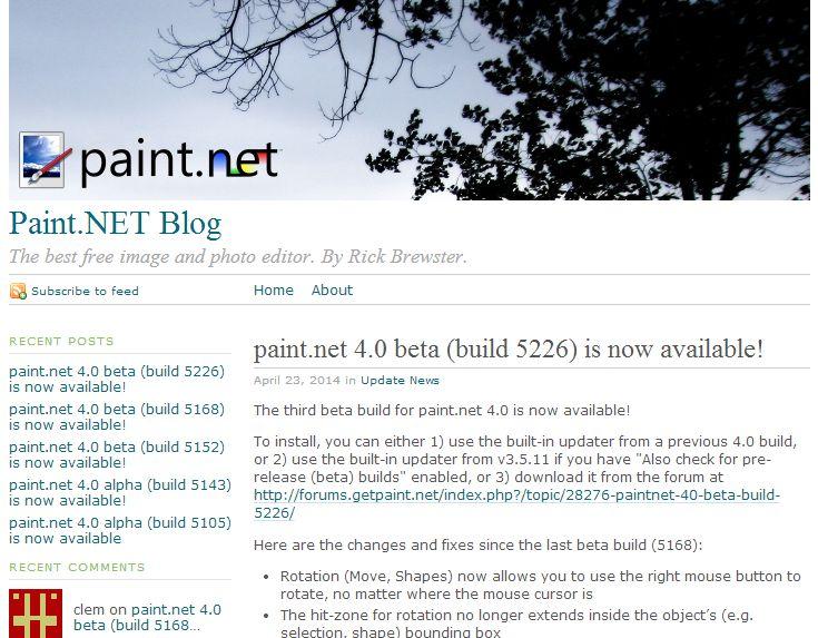 Paint.NET 4.0 beta(5226) 3つ目が登場。 図形の回転等を右クリックを押しながらの操作を追加