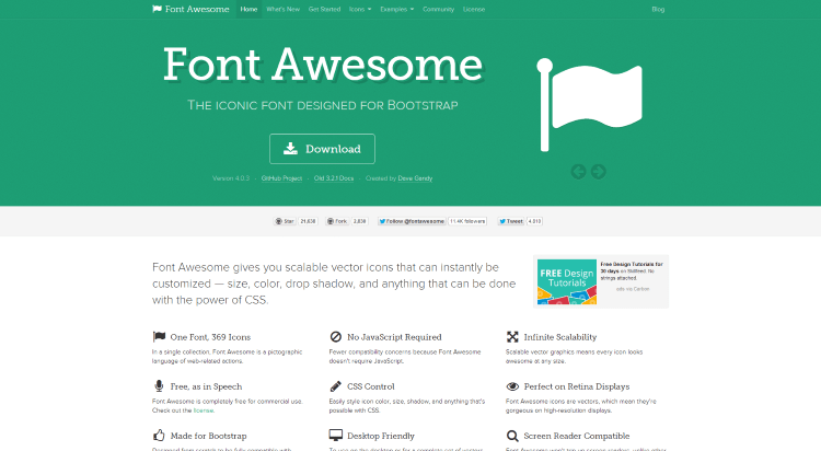 Fortawesome.github.io - Google Plus, fa puzzle, gamepad és ...