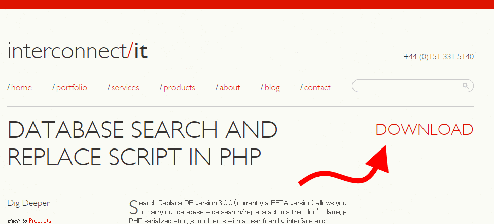 WordPress Serialized PHP Search Replace Tool | Interconnect IT - WordPress Consultants, Web Development and Web Design